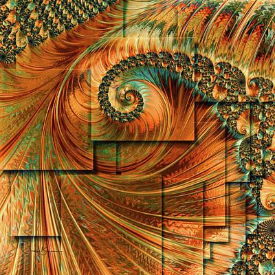 Digital Art - Golden Spiral by Shelley Benjamin