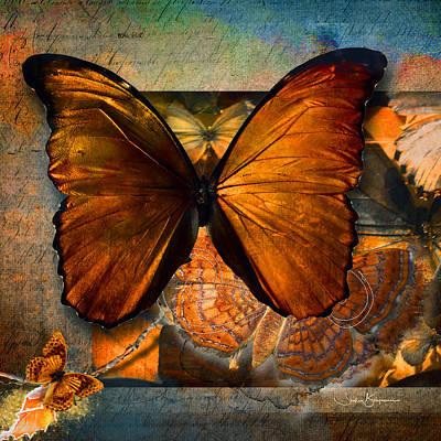 Digital Art - Butterflies by Shelley Benjamin