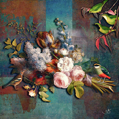 Digital Art - Bouquet for the Birds by Shelley Benjamin
