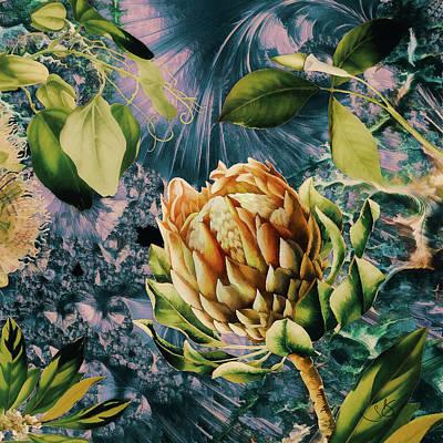 Digital Art - Contempory Botanical by Shelley Benjamin