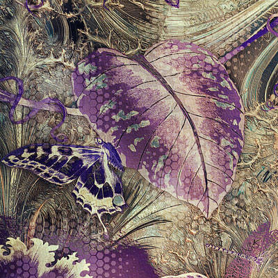 Digital Art - Purple Botanical by Shelley Benjamin