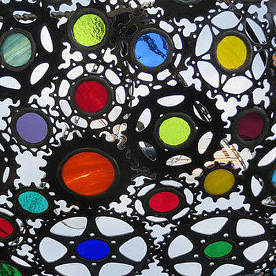 Photograph - Stained Glass Colorful Art by Elizabeth Rose