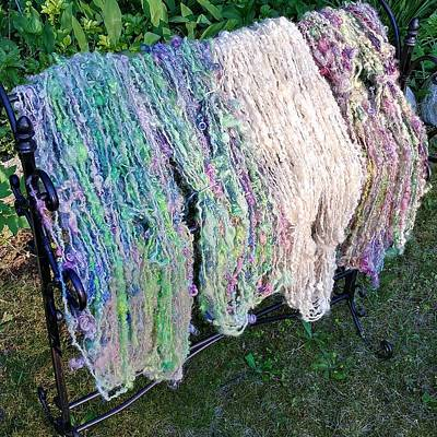 Photograph - Textured Yarn 1 by Charles and Melisa Morrison