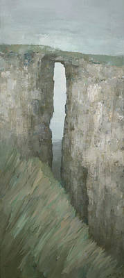 Painting - Arch Rock, Perranporth by Steve Mitchell