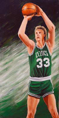 Larry Bird Paintings Original Artwork