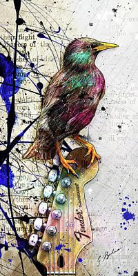 Starlings Digital Art
