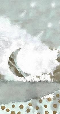 Designs Similar to Blue Moonset Monoprint Collage