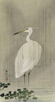 Designs Similar to Egret In Rain by Ohara Koson