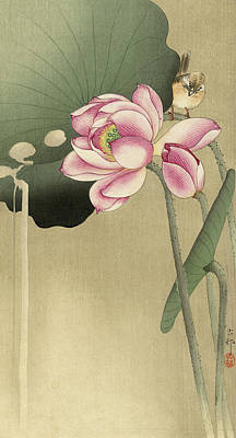 Designs Similar to Lotus With Bird, 1936
