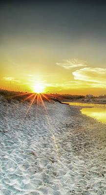 Photograph - Florida Sunrise - Stillness - Panel 1 by Cathy Neth