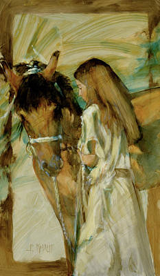 Girl And Horse Paintings