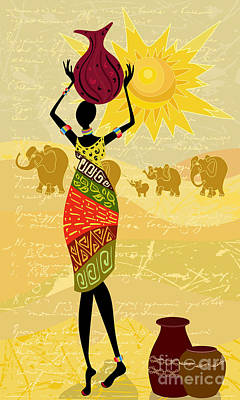 Designs Similar to Landscape With An African Woman