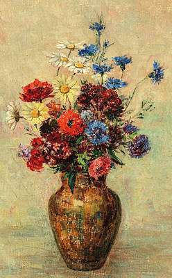 Designs Similar to Flowers In A Vase, Circa 1910