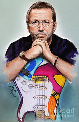 Eric Clapton Mixed Media Original Artwork