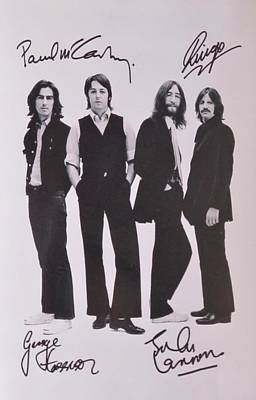 Autographed Of The Beatles Photographs
