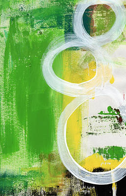 Green And Yellow Abstract Mixed Media Prints