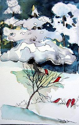 Snow Drifts Mixed Media