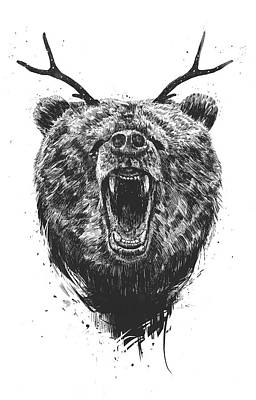 Designs Similar to Angry Bear With Antlers