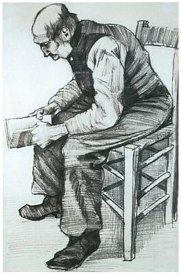 Man Reading The Bible Prints