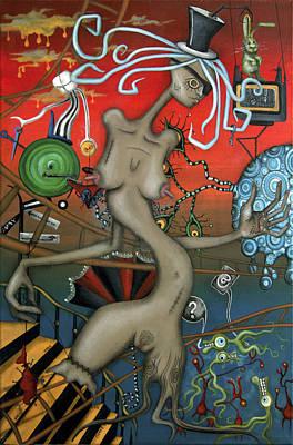 Dog Abstract Art Original Artwork