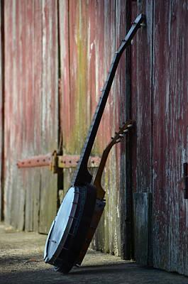 Blue Barn Doors Digital Art