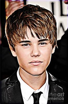 Justin Bieber Digital Art Prints
