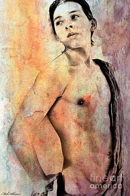 Male Nude Drawing Digital Art