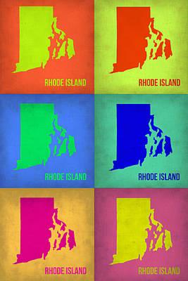 Rhode Island Map Digital Art