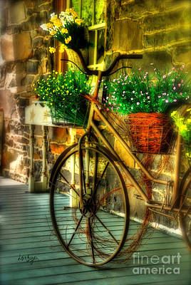 Bicycles With Flowers Prints
