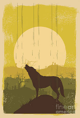 Designs Similar to Wolf Howling Background, Vector