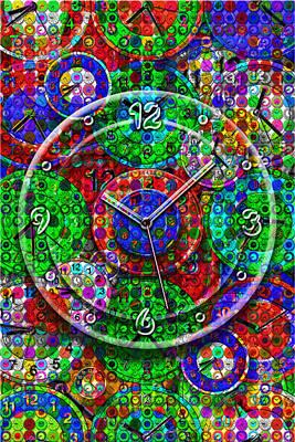 Large Clocks Digital Art Prints