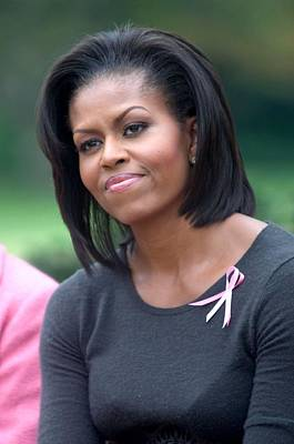 First Lady Michelle Obama Hosts Breast Cancer Awareness Month Ev Prints