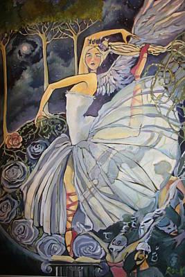 Dance Ballet Roses Drawings