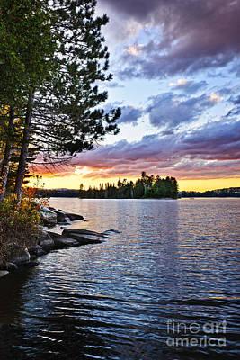 Designs Similar to Dramatic Sunset At Lake