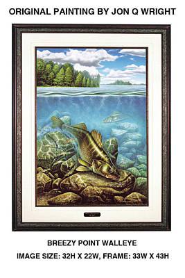 Breezy Point Walleye Art