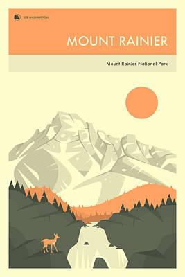 Mt Rainier Art Prints