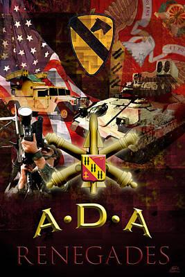 Artillery Mixed Media Original Artwork