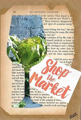 Vintage Wine Lovers Mixed Media Prints