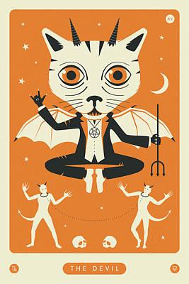 Designs Similar to The Devil Tarot Card Cat