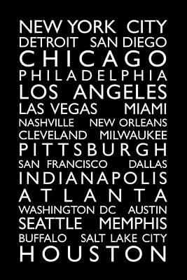 Usa Text Map Prints