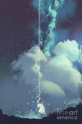 Milky Way Digital Art Prints