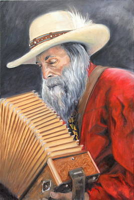 Painting - Leo and his Accordion by Nik English