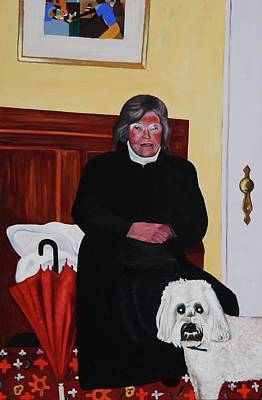 Painting - Aunt Fern with Roxie by Lynda Diamond