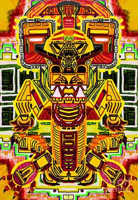 Digital Art - Fire Dragon by Chipchaman