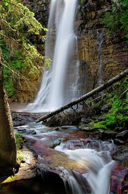 Photograph - Virginia Falls by Larry Kjorvestad