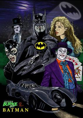 Digital Art - Batman 1989 by Joseph Burke