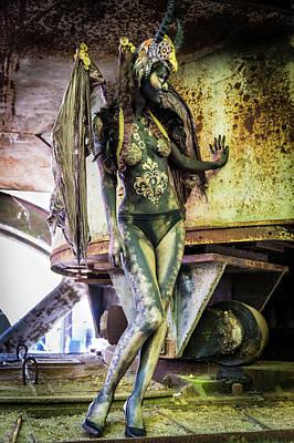 Photograph - Steampunk Demon by Marco Mazzini and Lynn Schockmel