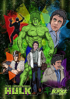 Digital Art - The Incredible Hulk by Joseph Burke