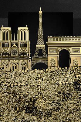 Paris Skyline Original Artwork