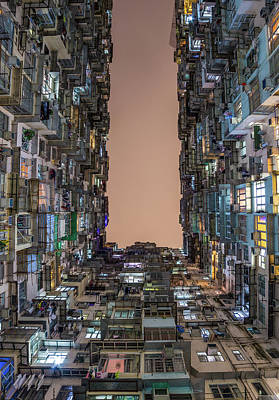 Photograph - Old Apartments in Hong Kong by Travel and Destinations - By Mike Clegg